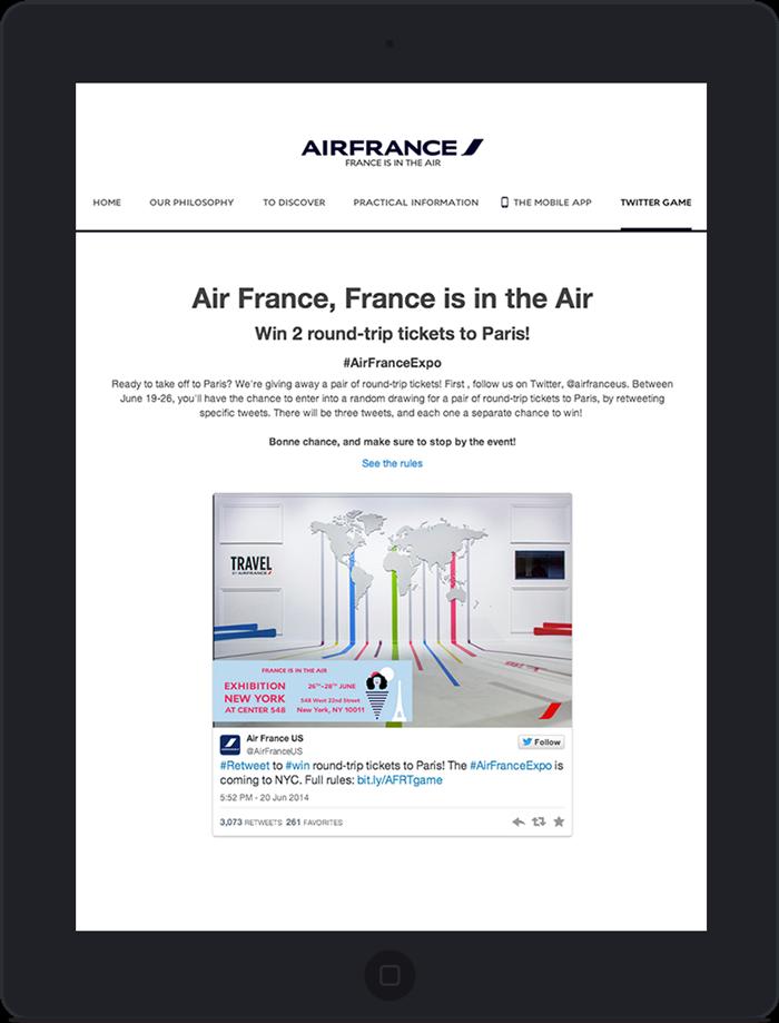 Application twitter pour Air France