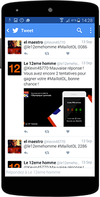 Application Twitter pour Orange